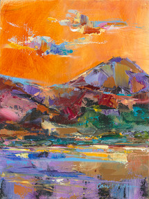 Cloud Dance in Paradise 2 landscape painting