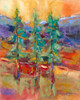 Sentinels at Nine Pipes landscape painting