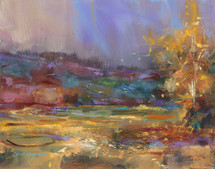 October's Breath at Triple Creek oil on panel