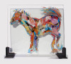 Equus oil on glass painting