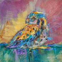 Baby Sparrow Hawk 9 painting