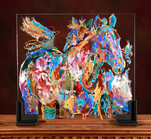 The Brood Mares Glass Horses painting