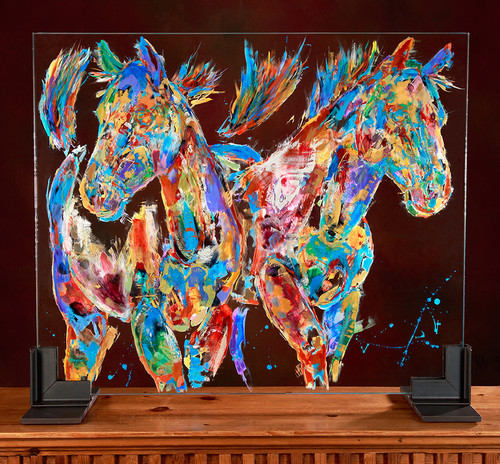 Wild Blue Yonder Glass Horses painting