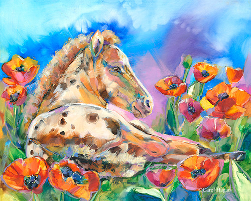 """Poppy Princess"" print on metal by Carol Hagan."