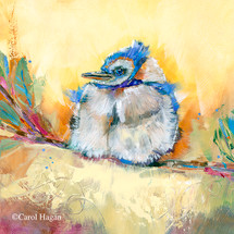 """Little Boy Blue"" print on metal by Carol Hagan."