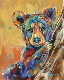 """Little Miss Sunshine"" print on metal by Carol Hagan."