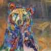 """Black Bear Study"" print on metal by Carol Hagan."