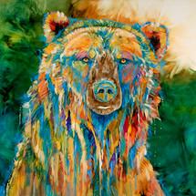 """Grizzly Blues"" print on metal by Carol Hagan"