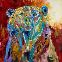 """Mama Bear"" print on metal by Carol Hagan."
