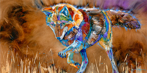 """Mouse!"" print on metal by Carol Hagan"