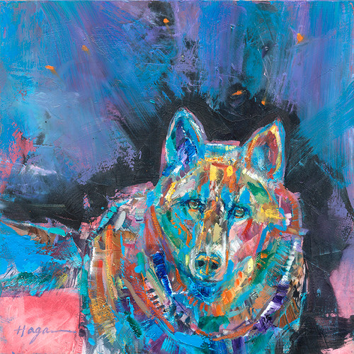 Blue Night Wolf oil