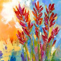 Paintbrush Colors Metal Print Carol Hagan