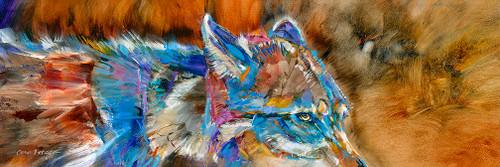 A Wary Eye Metal Print Carol Hagan