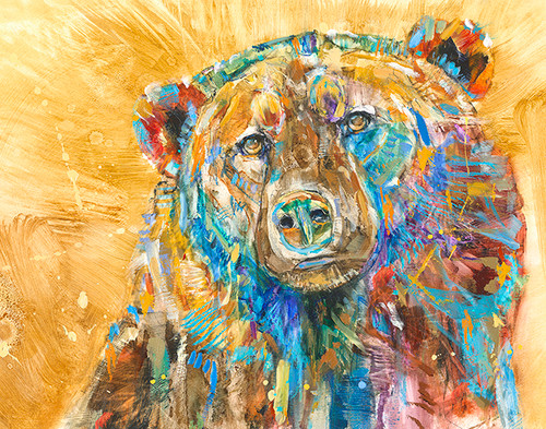 Golden Bear Metal Print Carol Hagan