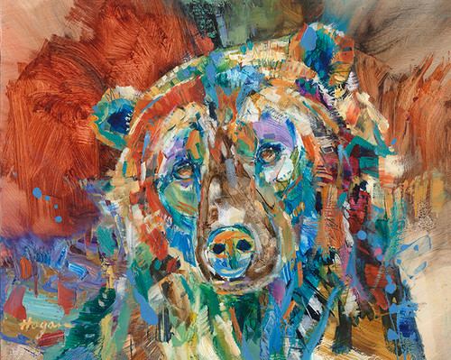 Grizzly Portrait oil painting