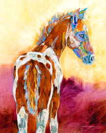 Sweet Cheeks - Metal Print by Carol Hagan