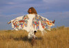 Under the Montana Sky - Montana Deer Suede Shawl
