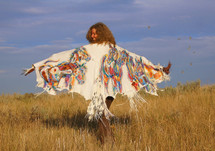 Under the Montana Sky - Montana Deer Suede Shawl
