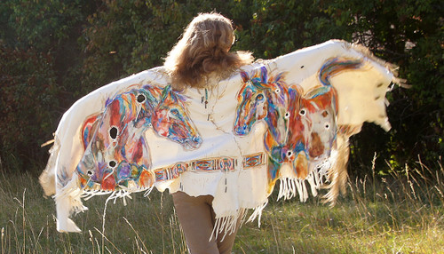 Montana Paints - Luxurious Montana Deer Suede Shawl