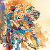 """Bear's Coat of Many Colors"" Original oil painting"