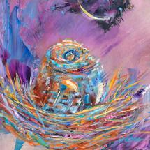 Owlets' Lofty Aspirations - Metal Print - Carol Hagan