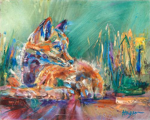 Fox Snooze original painting