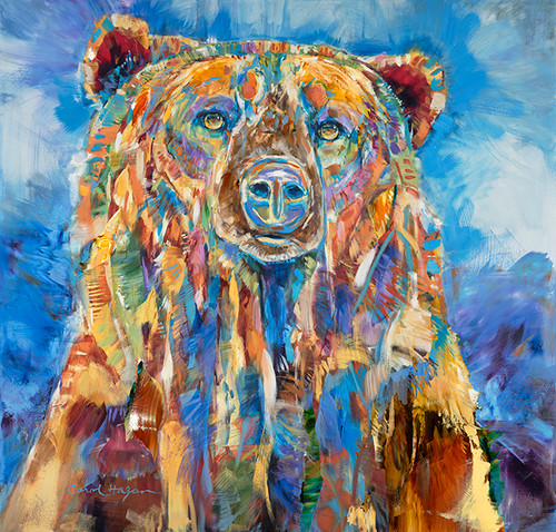 """""""Blue Grizzly Daydreams"""" canvas gallery wrap print"""