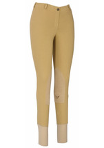 TuffRider Ladies Starter LowRise Pull On Breeches - Tan/Front