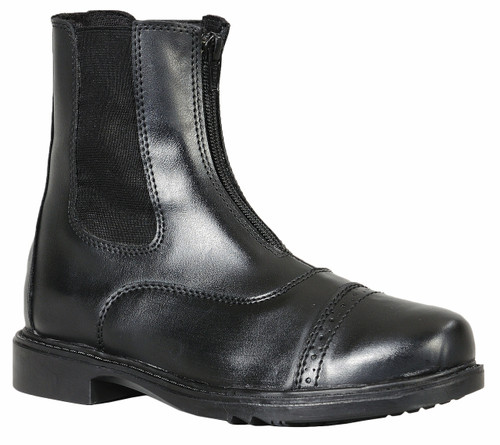 TuffRider Children's Starter Front Zip Paddock Boots - Black