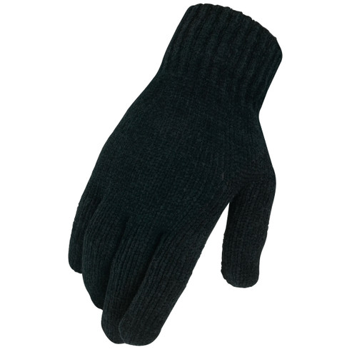 Heritage Chenille Knit Gloves / Black