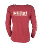 TownWear USA Long Sleeve Tee - Crimson Back