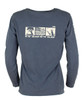 TownWear USA Long Sleeve Tee - Denim Back