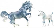 "Breyer Horses - ""Cascade and Caspian"" Unicorn Mare and Foal"