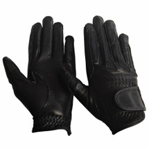 Equine Couture Children's Stretch Leather Riding Gloves