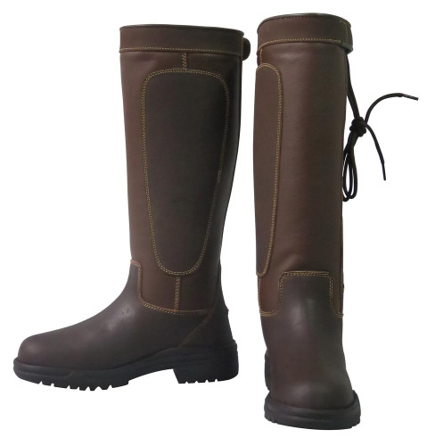 TuffRider Ladies Ajuste Waterproof Leather Country Boots in Fawn