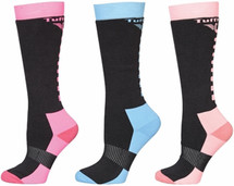 TuffRider Ladies Neon Winter Thermal Knee Hi Socks