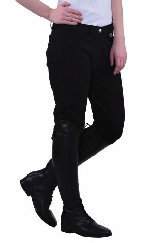 TuffRider Ladies Perfect Knee Patch Breeches - Black