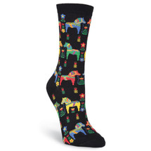 K. Bell Women's Swedish Horse Crew Socks - Front