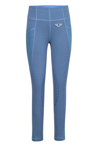 TuffRider Children's Minerva EquiCool Tights - Ensign Blue