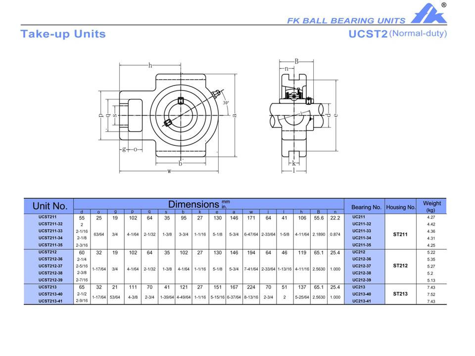 """High Quality! UCST212-39  2-7//16/""""  Take-Up Unit"""