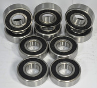 6206-2RS (Qty 10) 30mm Bore - Rubber Seals