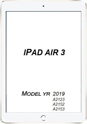 Apple iPad Air 3 3rd Gen Glass/LCD repair service.
