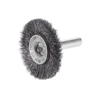 "3"" Crimped Carbon Steel Wire Wheel Brush with 1/4"" Shank"