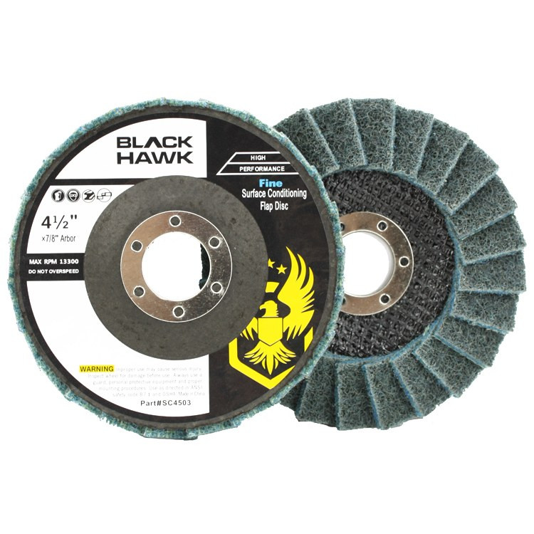 Black Hawk Abrasives Surface Conditioning Flap Disc - Blue