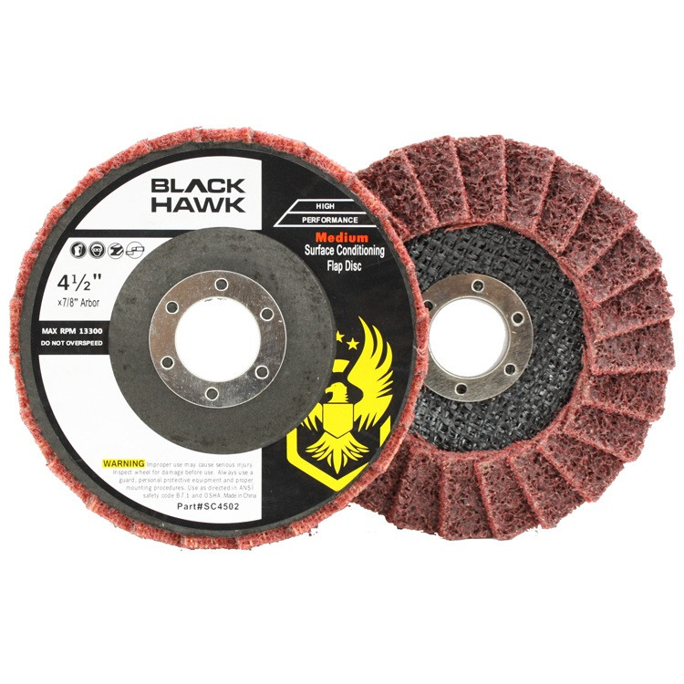 Black Hawk Abrasives Surface Conditioning Flap Disc - Red