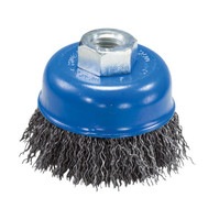 "4"" x 5/8""-11 Crimped Wire Cup Brush (Carbon Steel)"