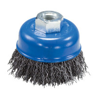 "5"" x 5/8""-11 Crimped Wire Cup Brush (Carbon Steel)"