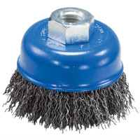 "6"" x 5/8""-11 Crimped Wire Cup Brush (Carbon Steel)"