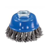 2-3/4″ x 5/8″–11 Knot Cup Brush (Stainless Steel)
