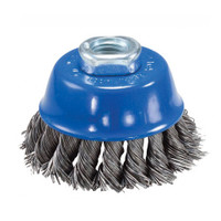 4″ x 5/8″–11 Knot Cup Brush (Stainless Steel)